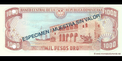 République Dominicaine - p158S - 1.000 Pesos Oro - 1996 - Banco Central de la República Dominicana