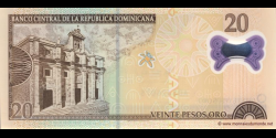 République Dominicaine - p182 - 20 Pesos Oro - 2009 - Banco Central de la República Dominicana