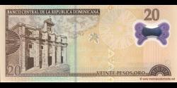 République Dominicaine - p182 - 20 Pesos Oro - 2009 - Banco Central de la República Dominicana