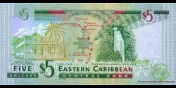 St Christophe et Niévès - p42k - 5 Dollars - ND (2003) - Eastern Caribbean Central Bank