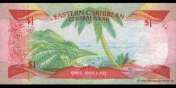 Ste Lucie - p17l - 1 Dollar - ND (1985 - 1988) - Eastern Caribbean Central Bank