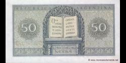 Argentine - p261b - 50 Centavos - L. 12.962 and 13.571 - Banco Central de la República Argentina
