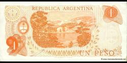 Argentine - p287(2) - 1 Peso - ND (1970 - 1973) - Banco Central de la República Argentina