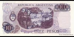Argentine - p289(6) - 10 Pesos - ND (1970 - 1973) - Banco Central de la República Argentina
