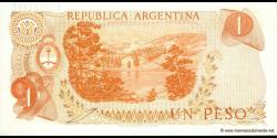 Argentine - p293 - 1 Peso - ND (1974) - Banco Central de la República Argentina