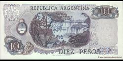 Argentine - p295(4) - 10 Pesos - ND (1973 - 1976) - Banco Central de la República Argentina