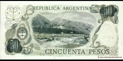 Argentine - p296(2) - 50 Pesos - ND (1974 - 1975) - Banco Central de la República Argentina