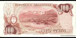 Argentine - p297(2) - 100 Pesos - ND (1973 - 1976) - Banco Central de la República Argentina