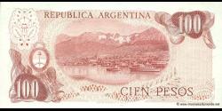 Argentine - p302b(2) - 100 Pesos - ND (1976 - 1978) - Banco Central de la República Argentina