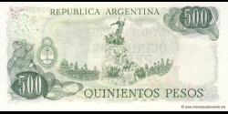 Argentine - p303a(2) - 500 Pesos - ND (1977 - 1982) - Banco Central de la República Argentina
