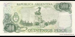 Argentine - p303b(2) - 500 Pesos - ND (1977 - 1982) - Banco Central de la República Argentina