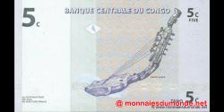 Congo - RD - p081 - 5 centimes - 01.11.1997 - Banque Centrale du Congo