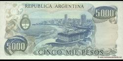 Argentine - p305b(1) - 5.000 Pesos - ND (1977 - 1983) - Banco Central de la República Argentina