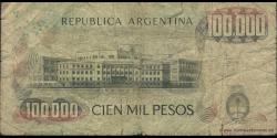 Argentine - p308a - 100.000 Pesos - ND (1979 - 1983) - Banco Central de la República Argentina