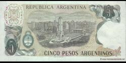 Argentine - p312a(2) - 5 Pesos Argentinos - ND (1983 - 1984) - Banco Central de la República Argentina