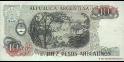 Argentine - p313a(2) - 10 Pesos Argentinos - ND (1983 - 1984) - Banco Central de la República Argentina