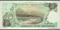 Argentine - p314a(1) - 50 Pesos Argentinos - ND (1983 - 1985) - Banco Central de la República Argentina