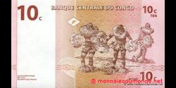 Congo - RD - p082 - 10 centimes - 01.11.1997 - Banque Centrale du Congo