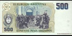 Argentine - p316 - 500 Pesos Argentinos - ND (1984) - Banco Central de la República Argentina