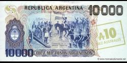 Argentine - p322c - 10 Australes - ND (1985) - Banco Central de la República Argentina