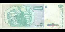 Argentine - p323b - 1 Austral - ND (1985 - 1989) - Banco Central de la República Argentina