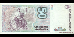 Argentine - p326b(2) - 50 Australes - ND (1986 - 1989) - Banco Central de la República Argentina