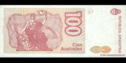 Argentine - p327c - 100 Australes - ND (1985 - 1990) - Banco Central de la República Argentina