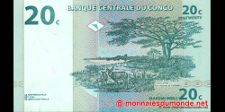 Congo - RD - p083 - 20 centimes - 01.11.1997 - Banque Centrale du Congo