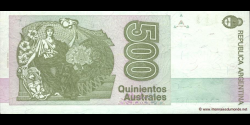 Argentine - p328b - 500 Australes - ND (1988 - 1990) - Banco Central de la República Argentina