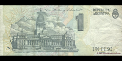 Argentine - p339b - 1 Peso Convertible - ND (1982 - 1994) - Banco Central de la República Argentina