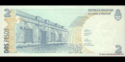 Argentine - p352(5) - 2 Pesos - ND (2002) - Banco Central de la República Argentina