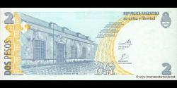 Argentine - p352(10) - 2 Pesos - ND (2002) - Banco Central de la República Argentina