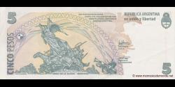 Argentine - p353(4) - 5 Pesos - ND (2003) - Banco Central de la República Argentina