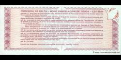 Argentine - pS2612e - 1 Austral - redemption date 31.12.1987 - Provincia de Salta