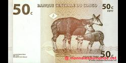 Congo - RD - p084 - 50 centimes - 01.11.1997 - Banque Centrale du Congo