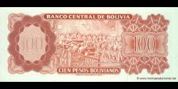 Bolivie - p164A - 100 Pesos Bolivianos - L. 13.07.1962 - Banco Central de Bolivia