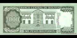 Bolivie - p167a - 1.000 Pesos Bolivianos - D. 25.06.1982 - Banco Central de Bolivia