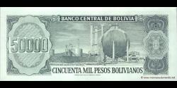 Bolivie - p170 - 50.000 Pesos Bolivianos - D. 05.06.1984 - Banco Central de Bolivia