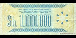 Bolivie - p192C - 1.000.000 Pesos Bolivianos - D. 08.05.1985 - Banco Central de Bolivia