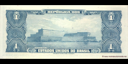 Brésil - p150d - 1 Cruzeiro - ND (1954 - 1958) - Republica dos Estados Unidos do Brasil, Tesouro Nacional