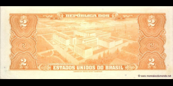 Brésil - p151b - 2 Cruzeiros - ND (1954 - 1958) - Republica dos Estados Unidos do Brasil, Tesouro Nacional