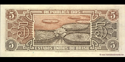 Brésil - p166b - 5 Cruzeiros - ND (1961 - 1962) - Republica dos Estados Unidos do Brasil, Tesouro Nacional