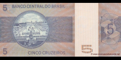 Brésil - p192c - 5 Cruzeiros - ND (1976) - Banco Central do Brasil