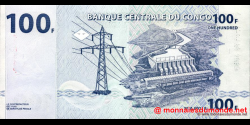 Congo - RD - p092 - 100 francs - 04.01.2000 - Banque Centrale du Congo