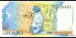 Brésil - p217a - 5 Cruzados Novos - ND (1989) - Banco Central do Brasil