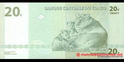 Congo - RD - p094 - 20 francs - 30.06.2003 - Banque Centrale du Congo