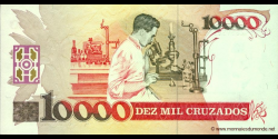 Brésil - p218b - 10 Cruzados Novos - ND (1990) - Banco Central do Brasil