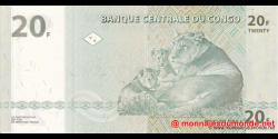 Congo - RD - p094A - 20 francs - 30.06.2003 - Banque Centrale du Congo