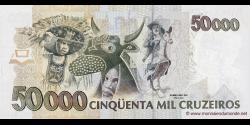 Brésil - p237 - 50 Cruzeiros Reais - ND (1993) - Banco Central do Brasil