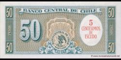 Chili - p126b - 5 Centésimos de Escudo - ND (1960) - Banco Central de Chile